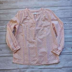 Soft Pink long sleeve blouse